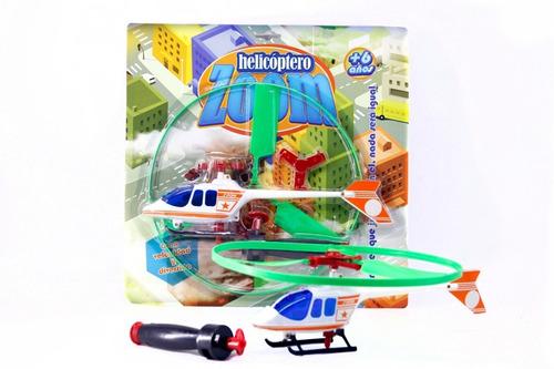 Juguete Super Helicoptero Con Lanzador No Usa Pila