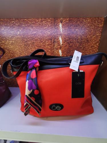 Imagen 1 de 3 de Bolso Marca Cloe Fashion Cuadrado Color Naranja