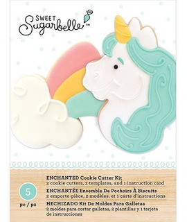 Kit Cortadores Galletas Decorar Postres Unicornio Sugarbelle