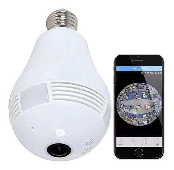 Lampara Espia Led Camara Hd 360° Sensor Alarma Grabador 128g