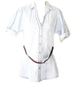 Blusa Azul Rayas Blanca Cinto Bluson Niña Jr Talla 16 Envio!