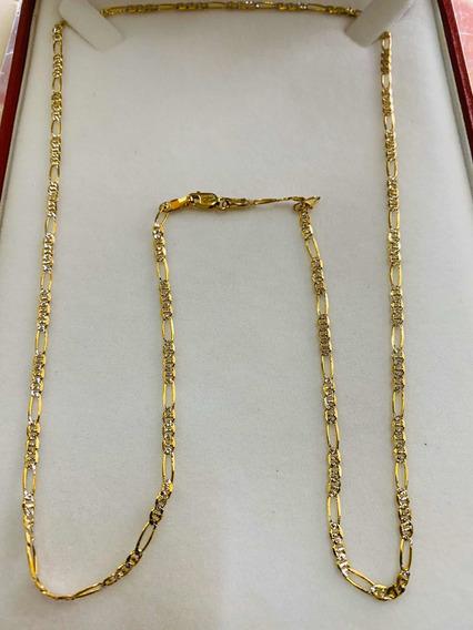 Cadena Cartier Oro 14k 60cm Diamantada