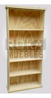 Biblioteca Recta 1.00x0.25x1.80 Librero Pino Roka