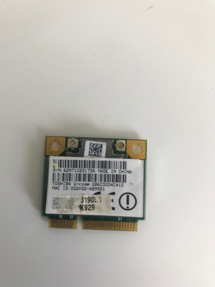 Placa Wirelles Do Notebook Toshiba M505d S4930 Frete 15,00