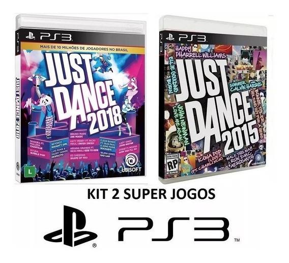 Just Dance 2018 + 2015 - Midia Fisica Original Lacrado - Ps3