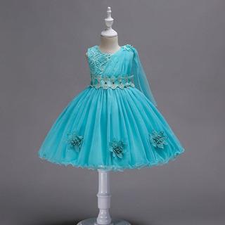 Vestido De Niña De La Flor De La Princesa Del Arco De La Fi