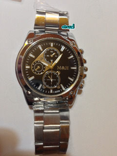 Reloj Importado M&h, Analógico, Acero Inox., Hombre