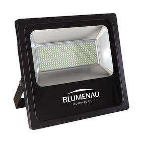 Refletor Blumenau Led Slim Preto 150w 6000k Bivolt