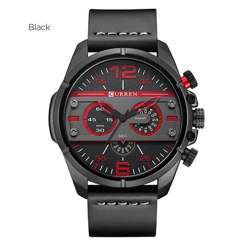 Curren 8259 Casual Relógio Moda Quartz Relógio De Pulso Pret