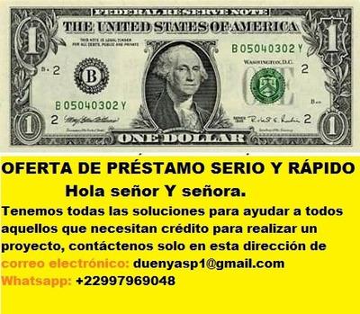 Prestamo De Dinero Whatsapp : +22997969048