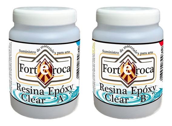 Resina Epóxica Cristal Epoxy-clear Sin Olor Fuerte 4 Kg.