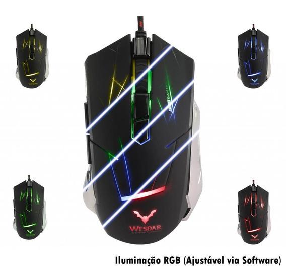 Mouse Gamer Wesdar 3200dpi 7d + Nf E Garantia