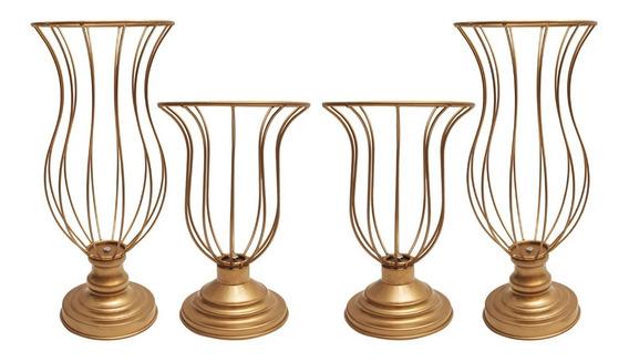 Kit 2 Vasos Aramados De 25cm E 2 Vasos De 35cm Melhor Preço