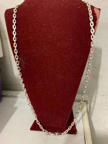 Cordão De Prata 950 Cadeado Italiano Diamantado 43gr