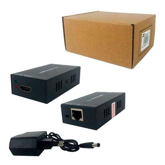 Extensor Hdmi 60 Metros X Rj45 Cat-5e/cat-6 3d 1080p