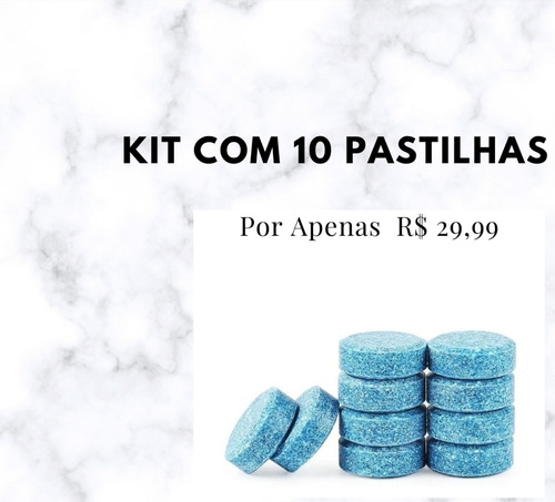 Pastilhas Limpa Para Brisa/vidro Kit Com 10 Pastilhas