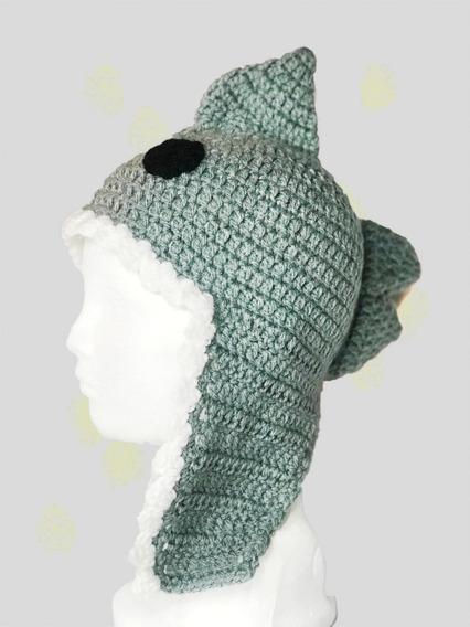 Gorro Tiburon En Crochet