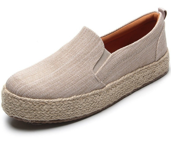 Tênis Slip On Feminino Santa Lolla Na Cor Terrace Natural