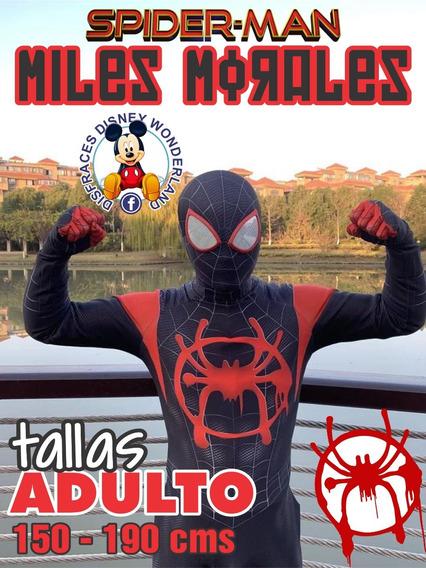Disfraz Traje Spiderman Miles Morales Adulto Cosplay