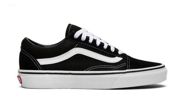 Tenis Vans Old Skool Blanco / Negro - Hombre Vn000d3hy28