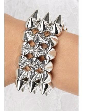 Bracelete, Pulseira Spike Triplo Regulavel - Varias Cores