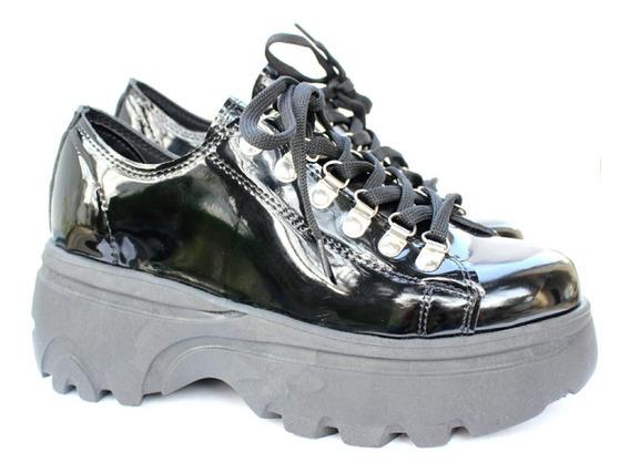 Zapato Mujer Gondola C/ Alpinos Charol Negro F 900