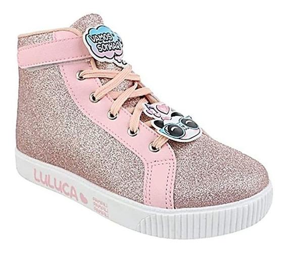 Tênis Sneaker Luluca Cano Médio Glitter Pampili 012417