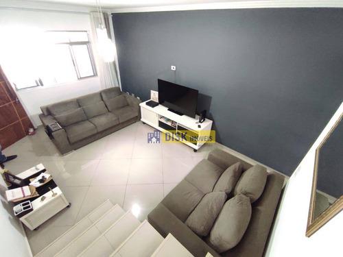 Imagem 1 de 15 de Sobrado Com 3 Dormitórios À Venda, 207 M² Por R$ 690.000,00 - Assunção - São Bernardo Do Campo/sp - So0695