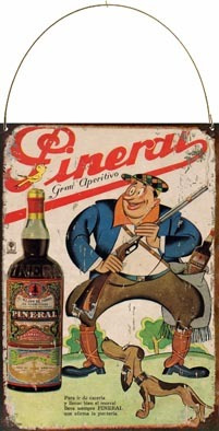 Cartel Chapa Publicidad Antigua 1936 Aperitivo Pineral L527