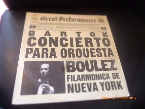 Vinilo Lp Bartok -- Boulez  Filarmonica De N York (u1139