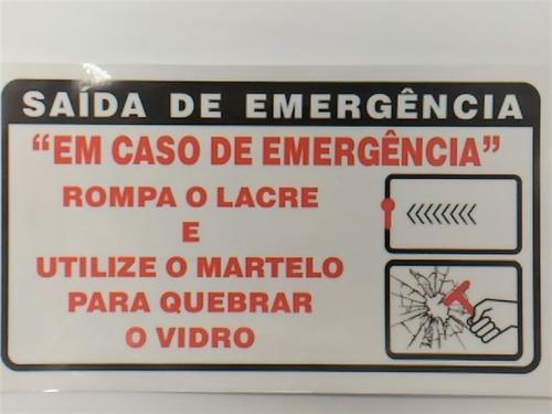 Adesivo Saída De Emergência P/ Vans Micro Ônibus Passageiros