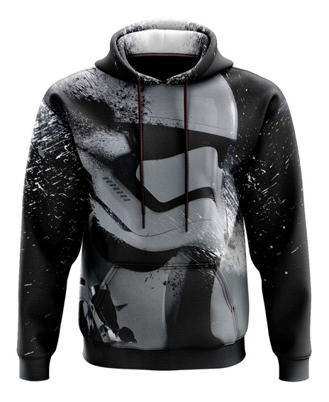 Sudadera Hoodie Casual Star Wars Trooper Niño Sublimada