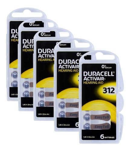 Imagem 1 de 7 de 30 Pilhas Baterias Da 312 Pr41 Aparelho Auditivo - Duracell