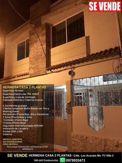 Vendo Hermosa Casa Cdla. Las Acacias Guayaquil