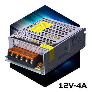 Fuente 12v 4a Metalica Regulada Switching Tira Led Cctv