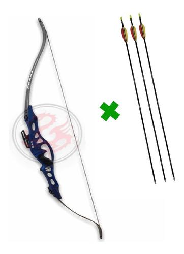 Imagen 1 de 8 de Arco Recurvo Prana Td6 Olimpico 3 Flechas Alum 40 Libras