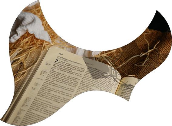 Escudo Palheteira Resinada Violão Aço Jumbo Sônica Holy