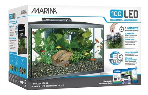 Kit Completo Acuario Deluxe Marina 38lts
