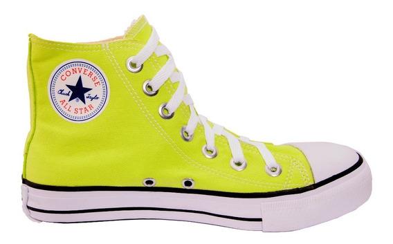Tênis Converse Allstar Chuck Taylor Cano Verde Neon