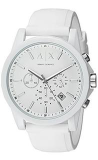Reloj Armani Exchange Para Hombre Ax1325 White Silicone