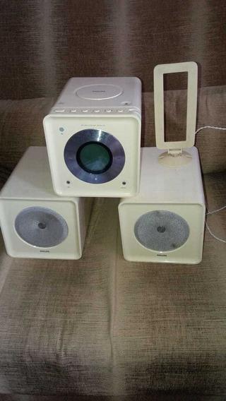 Aparelho De Som Philips. Cd Player Cor Branca ,,usado