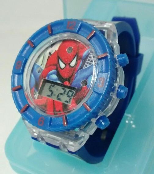 Relógio Infantil Super Herois Homem Aranha Caixinha