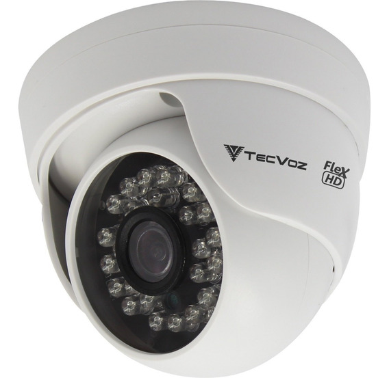 Câmera Tecvoz Cdm128mp - Mini Dome Flex Hd Ir 15m