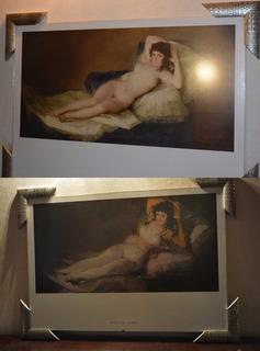 Oleografia Certificada La Maja Desnuda Y La Maja Vestida En Mercado