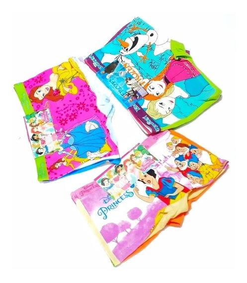 ¡¡¡boxer De Niña Pack Por 6 Unidades , Diseños Princesas!!