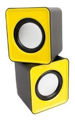 Caixa Som Mini ( 6w) (amarelo) (usb) Pisc)(1861)