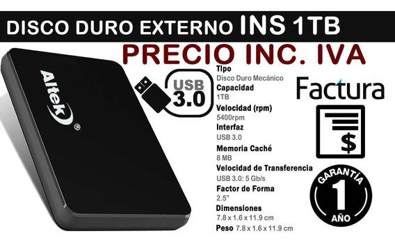 Disco Externo Altek 1tb 1 Tera Usb 3.0 Estuche Inc Iva