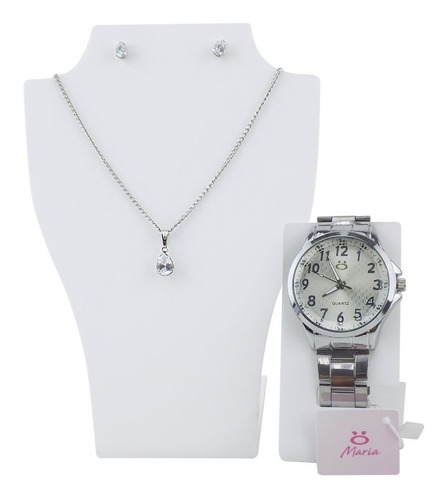 Relógio Feminino Original Dourado Caixa Colar Barato