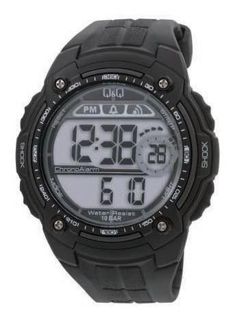 Relógio Pulso Q&q M075j001y Digital Borracha Preto Original
