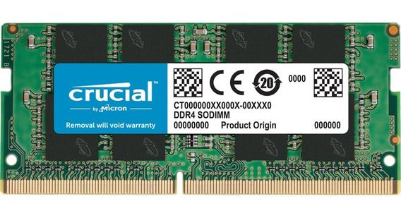 Memoria Ram Crucial 8gb Ddr4 2400mhz Sodimm Notebook Laptop